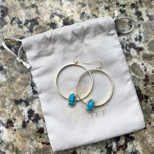 Turquoise and Gold Kendra Scott Earrings